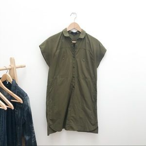 Madewell Shirt / Shift Dress Army Green